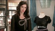 Erica Dasher wore her heart on her blouse, wearing this sheer black blouse on 'Jane by Design.'