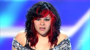 Jessica Espinoza already looks like a rock star with that black and bright red 'do.