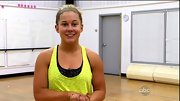 Shawn Johnson emphasized her tan with a day-glo yellow tank.
