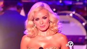 Katherine Jenkins platinum curls remind us of a modern day Marilyn Monroe.