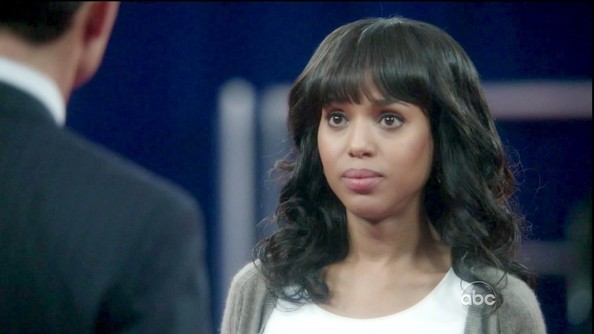 More Pics of Kerry Washington Medium Curls with Bangs (4 of 9) - Shoulder Length Hairstyles Lookbook - StyleBistro