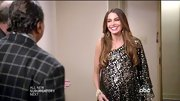 Sofia Vergara got ready for NYE on 'Modern Family' in this exotic single-sleeved dress.
