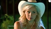 There's no mistaking Clare Bowen's southern vibe in this oversize cowboy hat.
