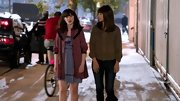 For a flashback scene, Zooey Deschanel showed her girly-girl roots in this Little Red Riding Hood topper.