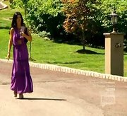 Teresa Giudice took a stroll on 'The Real Housewives of New Jersey' in a purple boho-chic maxi dress.