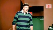 Cory Monteith wore this striped rugby tee for a cool sporty-meets-preppy vibe.