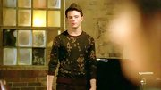 Chris Colfer stud to a classic and casual look with this camouflage sweater.