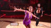 Melissa Gilbert wasn't afraid to show her figure in this skimpy purple number on the 'DWTS' stage.