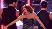 Jessica Rabbit, is that you? Melissa Gilbert sizzled on the 'DWTS' dance floor in this beaded and studded sweetheart dress.