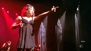 Jenna Ushkowitz sizzled on stage for a 'Chicago' number in this black teddy.