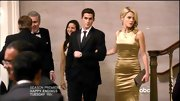 Rachael Taylor was solid gold on '666 Park Avenue' in this tight satin gown.