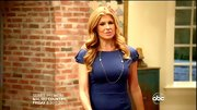 Connie Britton kept things streamlined on 'Nashville' in a tight blue sheath.
