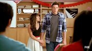 Cory Monteith's blue plaid button-down is a no-fail basic shirt for any guy.