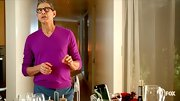Jeff Goldblum can really pull off vibrant colors, as he proves in this fuchsia sweater.