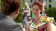 Leighton Meester looked quite Parisian on 'Gossip Girl' in a feminine floral print dress and lace fascinator.