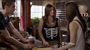 Lucy Hale's rib cage tank was just a little dark considering the premise of 'Pretty Little Liars.'
