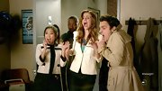 Brenda Song channeled Chanel with a black and white jacket on 'New Girl.'