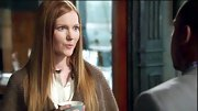 "Darby Stanchfield rocked perfectly straight hair that was reminiscent of the seventies on ""Scandal."""
