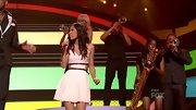 This white cutout dress may have been Jessica Sanchez's lucky charm on 'American Idol.' The petite singer made it to the top two in this rib-baring fit-and-flare design. W