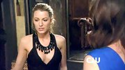 This black statement necklace livens up the neckline of Blake Lively's otherwise basic black cocktail dress.