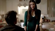 Nina Dobrev doesn't stray from basics like this green v-neck on 'The Vampire Diaries.'