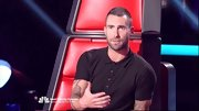 All Adam Levine needs to look hot? A plain black tee.