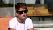 Justin Bieber maintained a mysterious aura on 'X Factor' in a pair of squared off aviators.