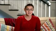 We loved this classic red cable-knit sweater Ariel Winter wore. It looks particularly charming with her glasses.