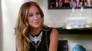 Sarah Jessica Parker added major wow factor to her LBD with a sparkly eagle statement necklace.