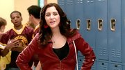 Nothing says the '80s quite like a cool leather jacket, just ask Katie Findlay who sported this red jacket on 'The Carrie Diaries.'