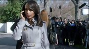Kerry Washington chose this lavender wool coat with zipper-detailing and belted waist for her look on 'Scandal.'