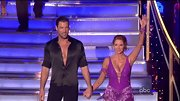 Spoiler alert: Maksim's silky black shirt becomes fully unbuttoned come the end of his dance routine. Shocking.