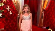 Opera phenom Jackie Evancho kept her 'DWTS' style sweet and age-appropriate with this ruffled and beaded pink dress. Adorable!